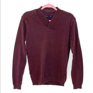 Zara Man Plum Knit Sweater (S30)